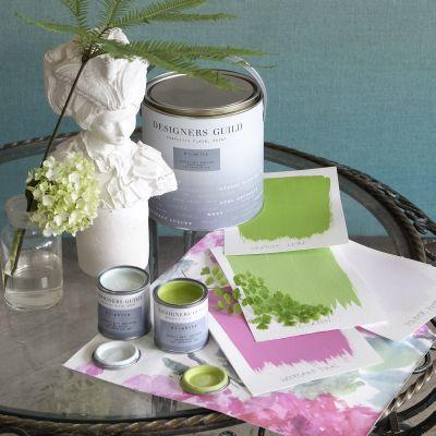 Designers Guild - Lime Tree & Lotus Pink