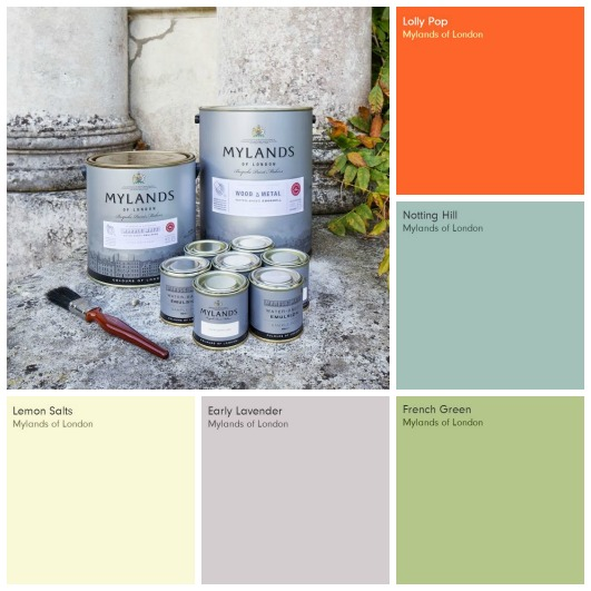 Mylands Spring Summer Key Paint Colours