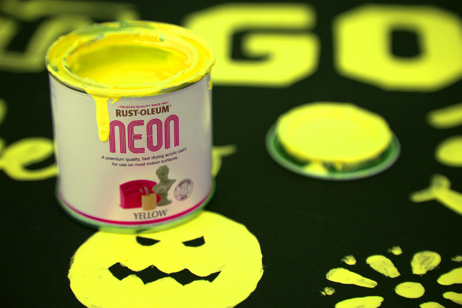 Neon paint yellow 125ml by rust oleum designer paint for How to make yellow paint