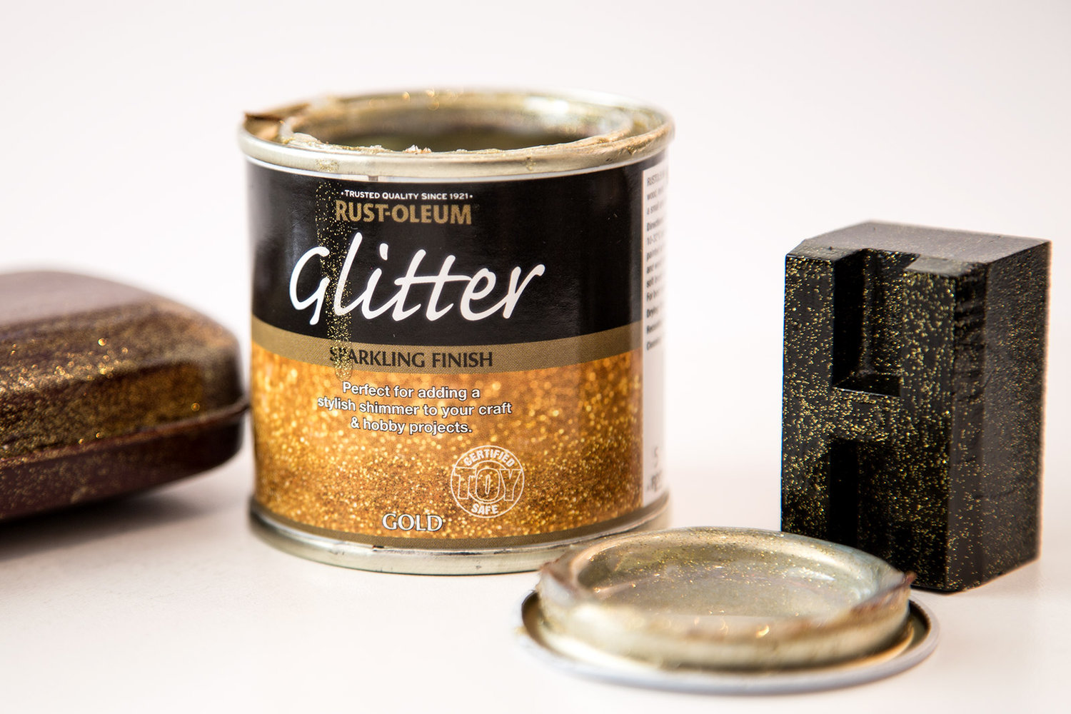 Glitter Paint Gold 125ml By Rust Oleum Designer Paint