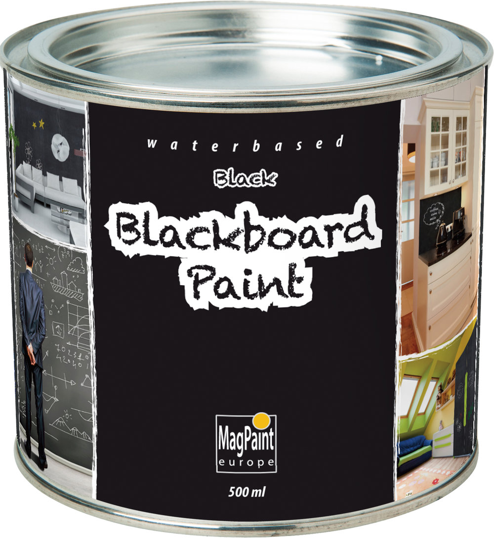 magpaint blackboard paint black 500ml by kidicraft