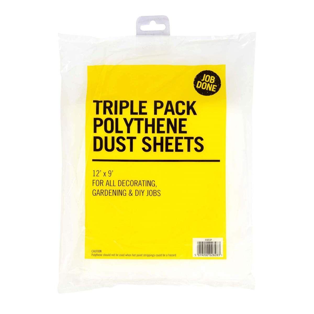 Rodo Poly Dust Sheet pack 3JTJDS3P