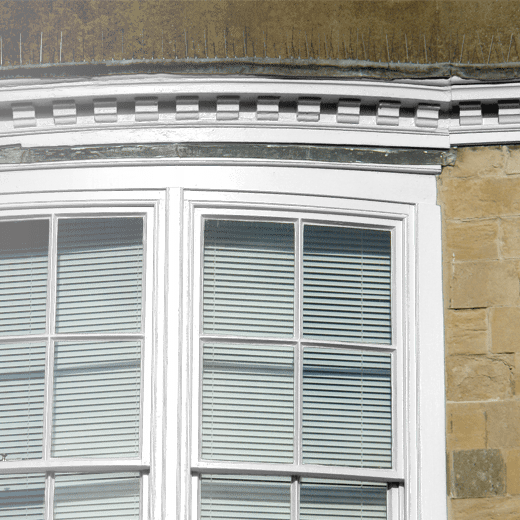 White Lead Dark by Little Greene Colour Scales on an exterior window frame