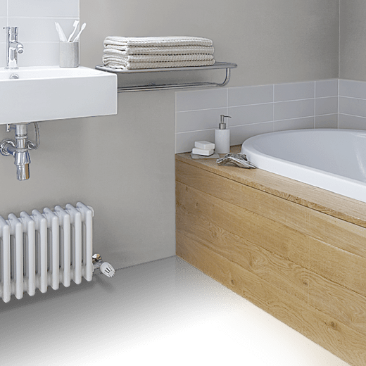 House White 2012 by Farrow & Ball on a bathroom floor