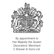 Royal Warrant. By appointment to Her Majesty The Queen, C Brewer & Sons Ltd. Decorators Merchants.
