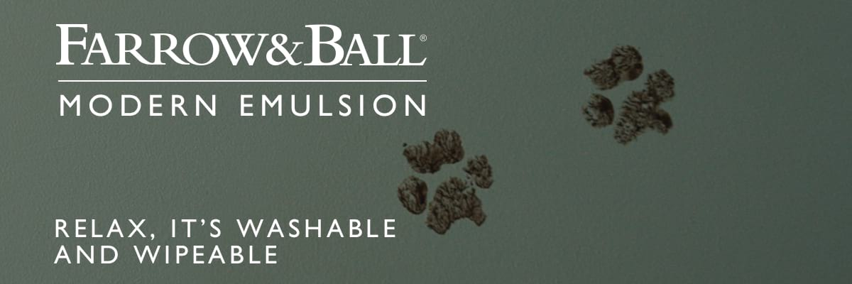 Farrow & Ball® Modern Emulsion. Relax, it's washable and wipeable.